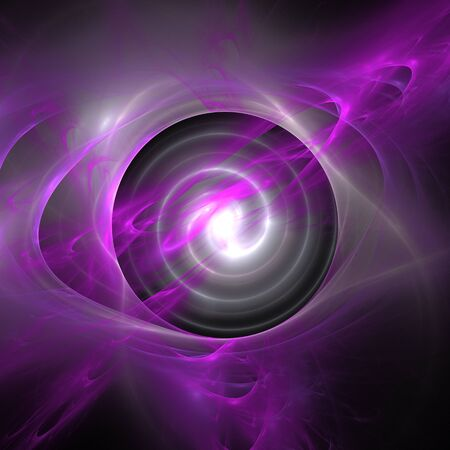 Purple light background. Abstract space rays fractal.