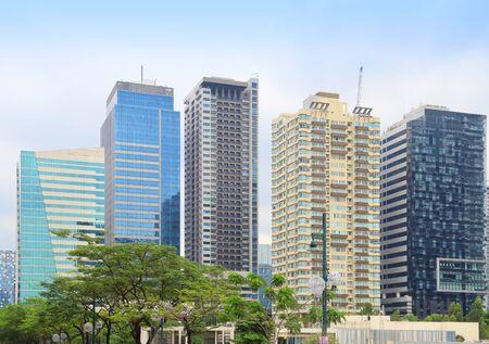 Bonifacio Global City district skyline in Taguig, Greater Manila, Philippines. Stock Photo