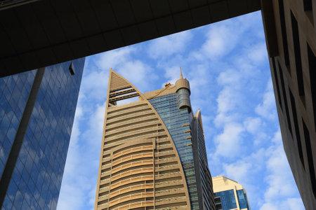 DUBAI, UAE - NOVEMBER 22, 2017: City Premiere Hotel building in Dubai, UAE. Dubai is the most populous city in UAE and a major global city. 에디토리얼