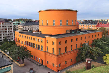 Stockholm Public Library - landmark in Norrmalm district.