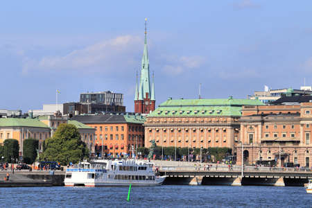 Stockholm city in Sweden. Royal Swedish Opera on the right.
