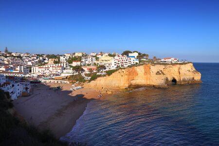 Carvoeiro cliff top town in Portugal - Algarve region.