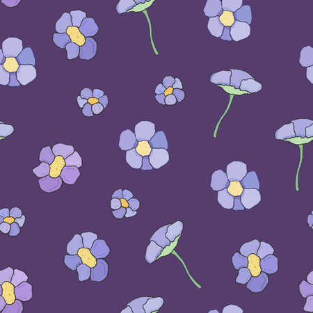 Floral fashion pattern. Vector illustration for textiles.