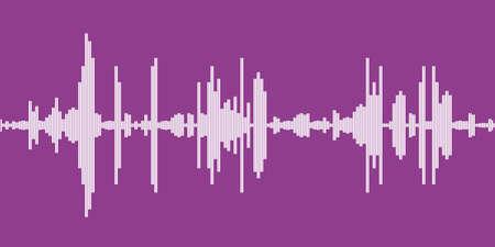 Audio sound wave graphics. Vector soundwave line equalizer graph display.