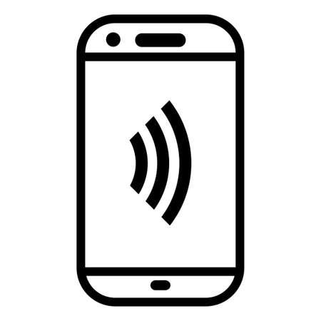 Smartphone wifi or data transfer simple icon.  vector icon.