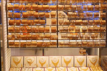 Dubai Gold Souq (Gold Market) - popular wholesale and retail jewelry market place.