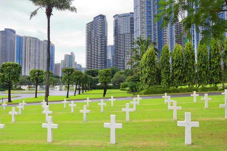 Manila American Cemetery in Bonifacio Global City, Taguig, Greater Manila, Philippines.