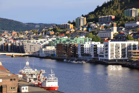 Bergen city, Norway. Cityscape of Solheim Nord, mostly residential district.