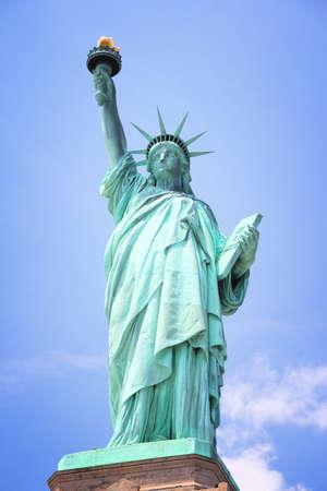 Statue of Liberty in New York City. US national landmark.