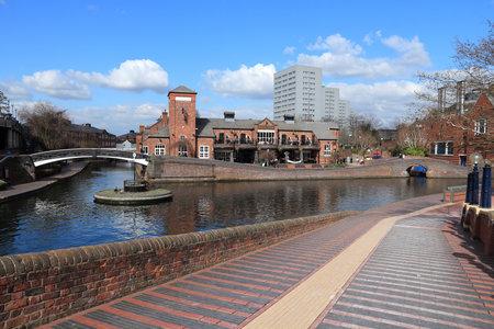 Birmingham-Fazeley canal roundabout in Birmingham UK. Sajtókép