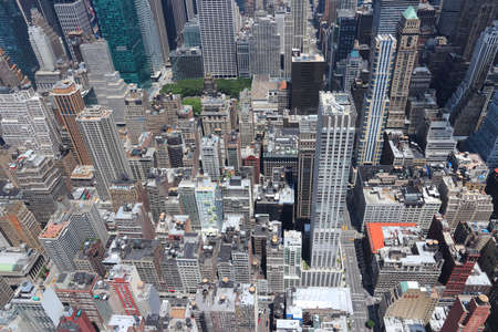 New York city aerial view. Midtown Manhattan cityscape. Editorial