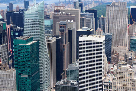 New York aerial view - Midtown Manhattan cityscape. Editorial