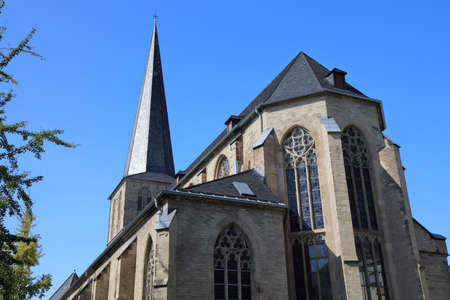 Monchengladbach city in Germany. Citykirche Alter Markt - Roman Catholic church of Assumption of Mary (St. Maria Himmelfahrt). Stock Photo