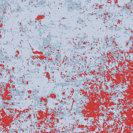 Blue and red stained grunge distressed square background. Grungy vector texture. Ilustrace