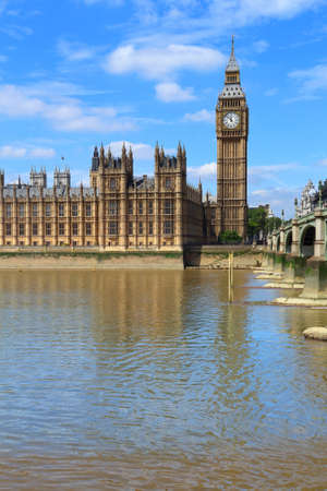 Palace of Westminster in London, UK. Big Ben. Archivio Fotografico