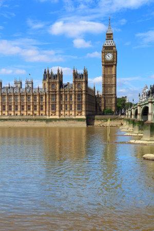 Palace of Westminster in London, UK. Big Ben. 免版税图像