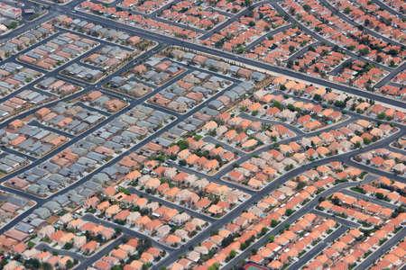 Suburbia in the USA - suburban neighborhoods in Las Vegas, Nevada. Foto de archivo
