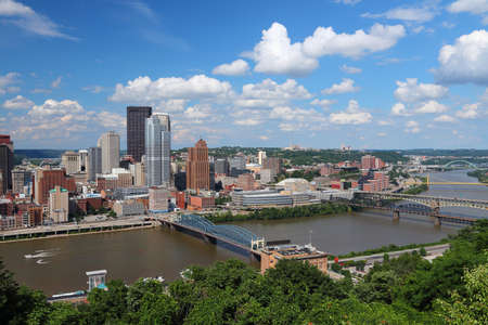Pittsburgh photo. Pittsburgh city skyline in Pennsylvania. United States photo. Reklamní fotografie