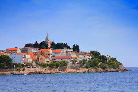Picturesque town - Primosten in Croatia. Adriatic Sea town in summer.