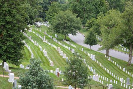 阿灵顿国家公墓,弗吉尼亚州,美国。美国军事公墓。