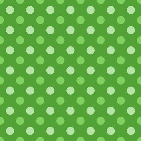 Seamless polka dot texture. Green color. Retro polka dots vector.