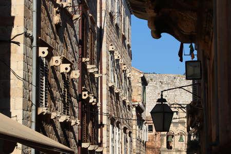 Dubrovnik street view, Croatia. Medieval Old Town.