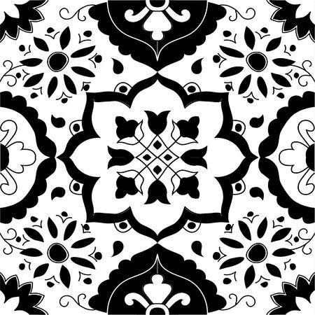 A mosaic, art flower decoration floral Illusztráció