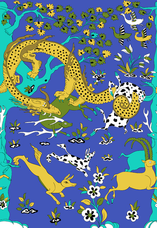 vector tekening draak traditionele china