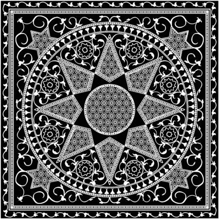 Mosaic murals mural vector water vintage star ornamental tile.