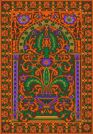 Mosaic murals mural vector water vintage ornamental tile mosaic geometric tile.