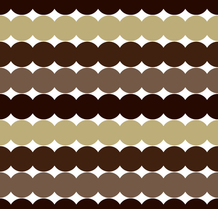 consecutive: Brown Consecutive circles background. Seamless pattern. Vector.