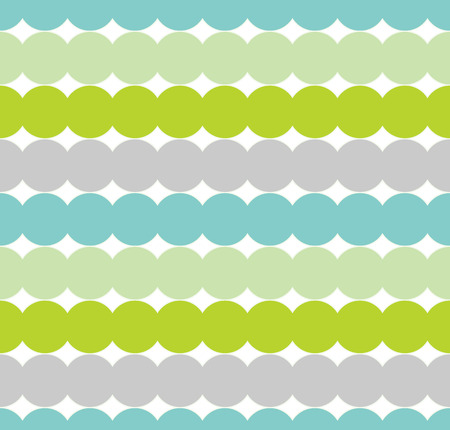 Consecutive circles background. Seamless pattern. Vector.