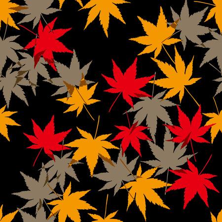 autumn motif: Japanese background. Seamless pattern. Vector.