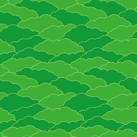 overlapped: Overlapped clouds background. Seamless pattern. Vector.