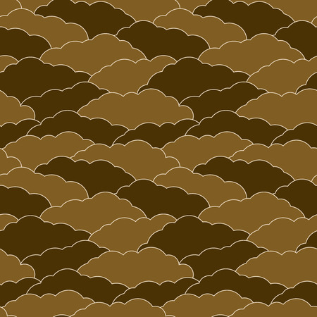 overlapped: Overlapped clouds background. Seamless pattern.