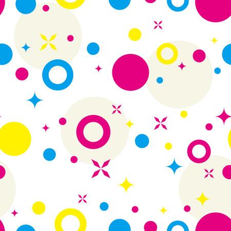 カラフルなドットの背景。シームレス パターン。ベクトル。