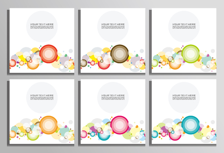 abstract waves background: Abstract banners with colorful circles.