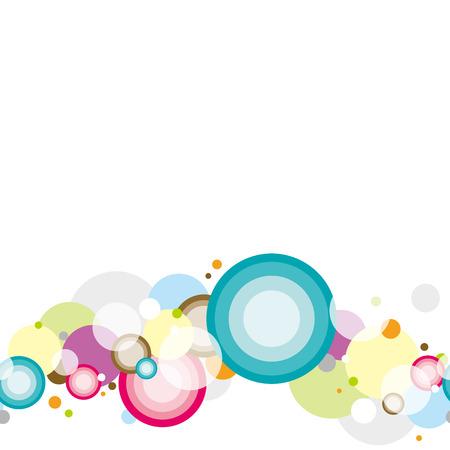 Fondo de círculos coloridos flotantes. Patrón sin costuras