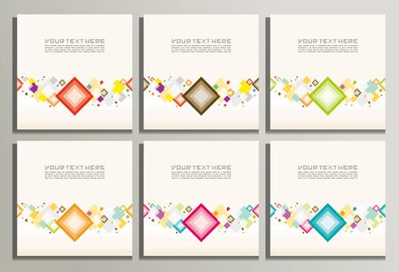 diamond shape: Abstract banners with colorful rhombuses.