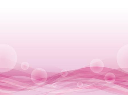 burbuja: Fondo ondulado de color rosa flotante. Patrón sin fisuras.