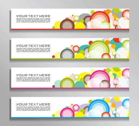 circles: Abstract banners with colorful circles.
