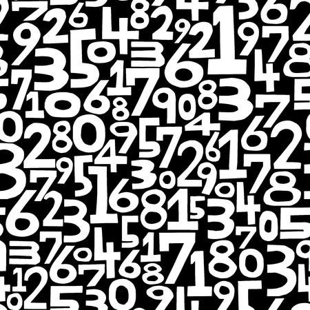 numero nueve: El fondo de los números. Patrón sin fisuras. Vector.