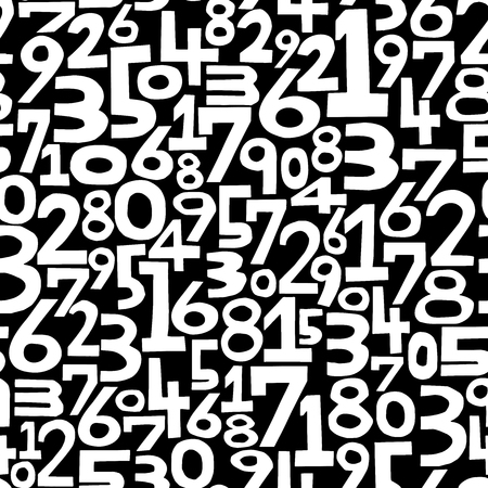 The background of the numbers. Seamless pattern. Vector.