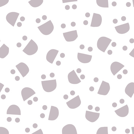 human face: Smiling faces background. Seamless pattern. Vector.