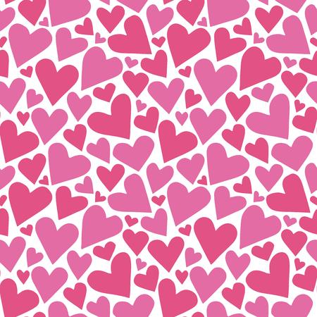 Heart background. Seamless pattern. Vector.