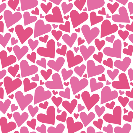 Heart background. Seamless pattern. Vector.