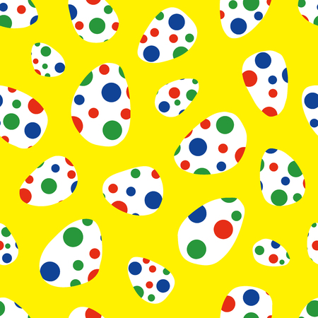 The background of the egg. Seamless pattern. Vector.  イラスト・ベクター素材