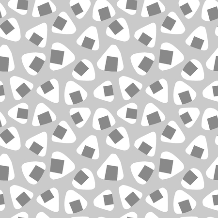 The background of the Japanese Onigiri. Seamless pattern. Vector.