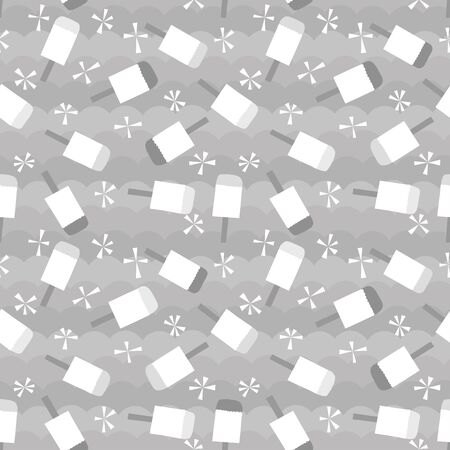 popsicle: Popsicle background. Seamless pattern. Vector.