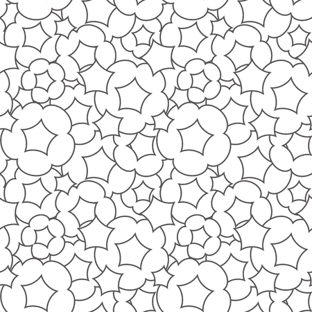 The background of the popcorn. Seamless pattern. Vector.